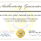 Certificate Of Authenticity Template | Aplg Planetariums In Certificate Of Authenticity Template