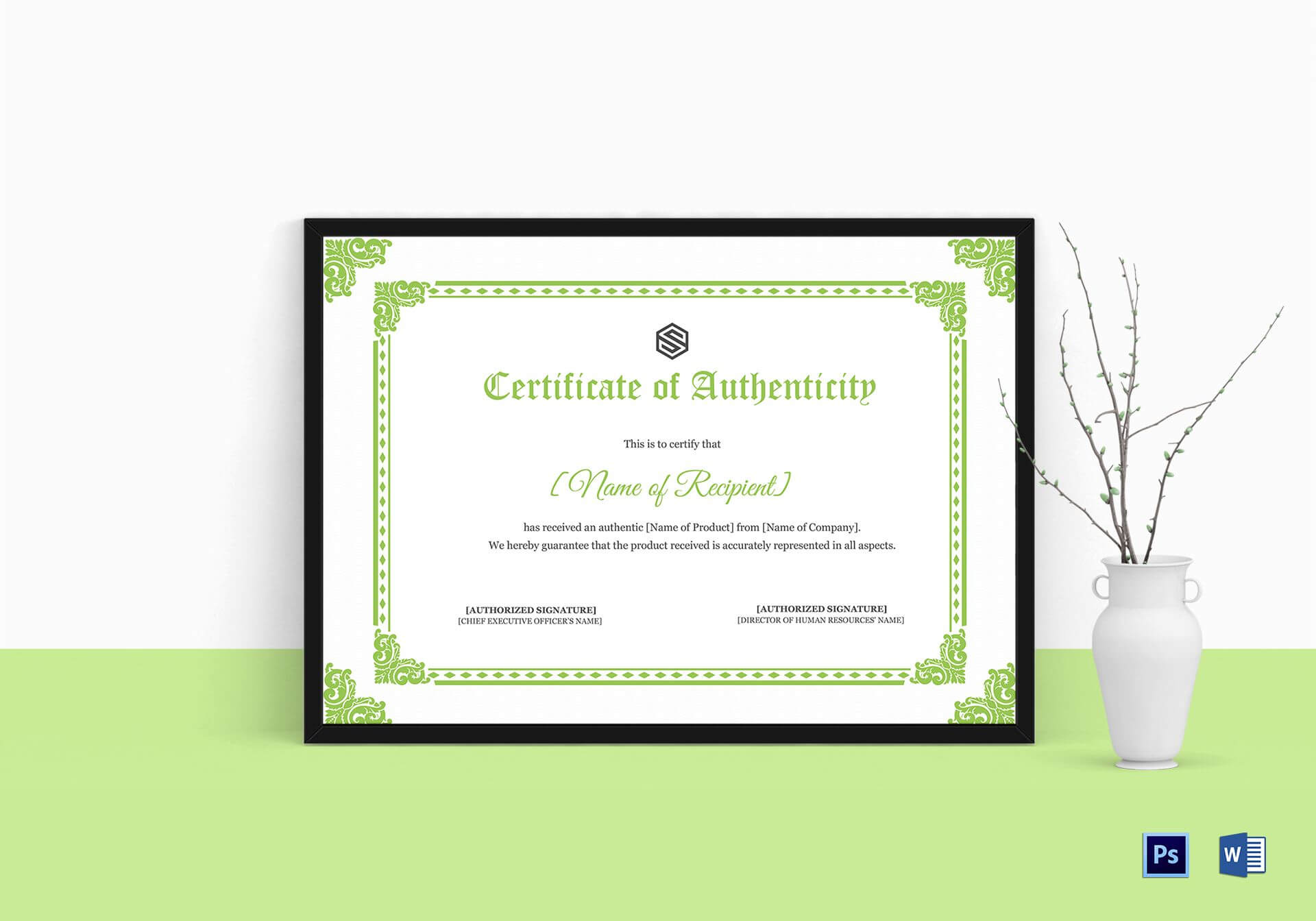 Certificate Of Authenticity Template In Certificate Of Authenticity Template