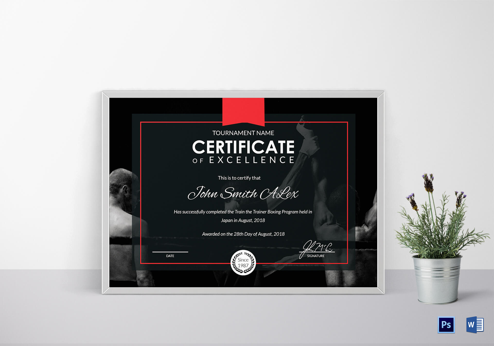 Certificate Of Boxing Template inside Commemorative Certificate Template