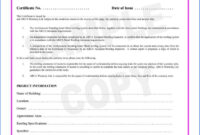 Certificate Of Completion Construction Sample #2562 in Construction Certificate Of Completion Template