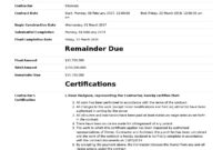 Certificate Of Completion For Construction (Free Template + throughout Certificate Of Acceptance Template