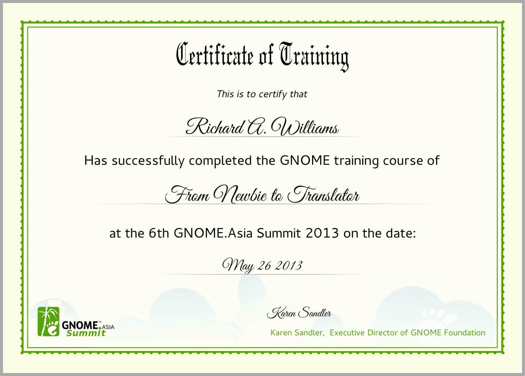 Certificate Of Completion Template Free Download Ojt Psd in Free Training Completion Certificate Templates