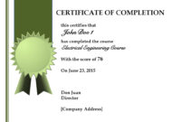 Certificate Of Completion Template Free Psd Best Training regarding Certificate Of Completion Free Template Word