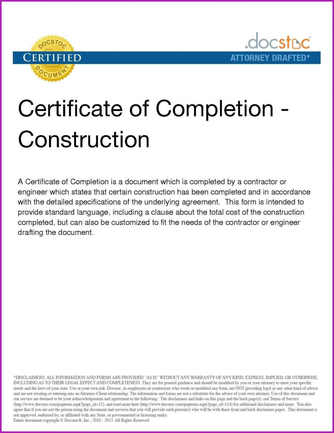 Certificate Of Completion Template New Pletion It Project in Construction Certificate Of Completion Template