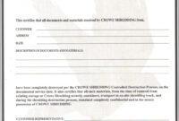 Certificate Of Data Destruction Template | Emetonlineblog in Certificate Of Destruction Template