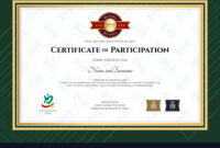 Certificate Of Participation Template In Sport The For Free Templates For Certificates Of Participation