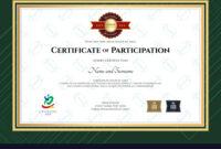 Certificate Of Participation Template In Sport The with regard to Certificate Of Participation Template Pdf