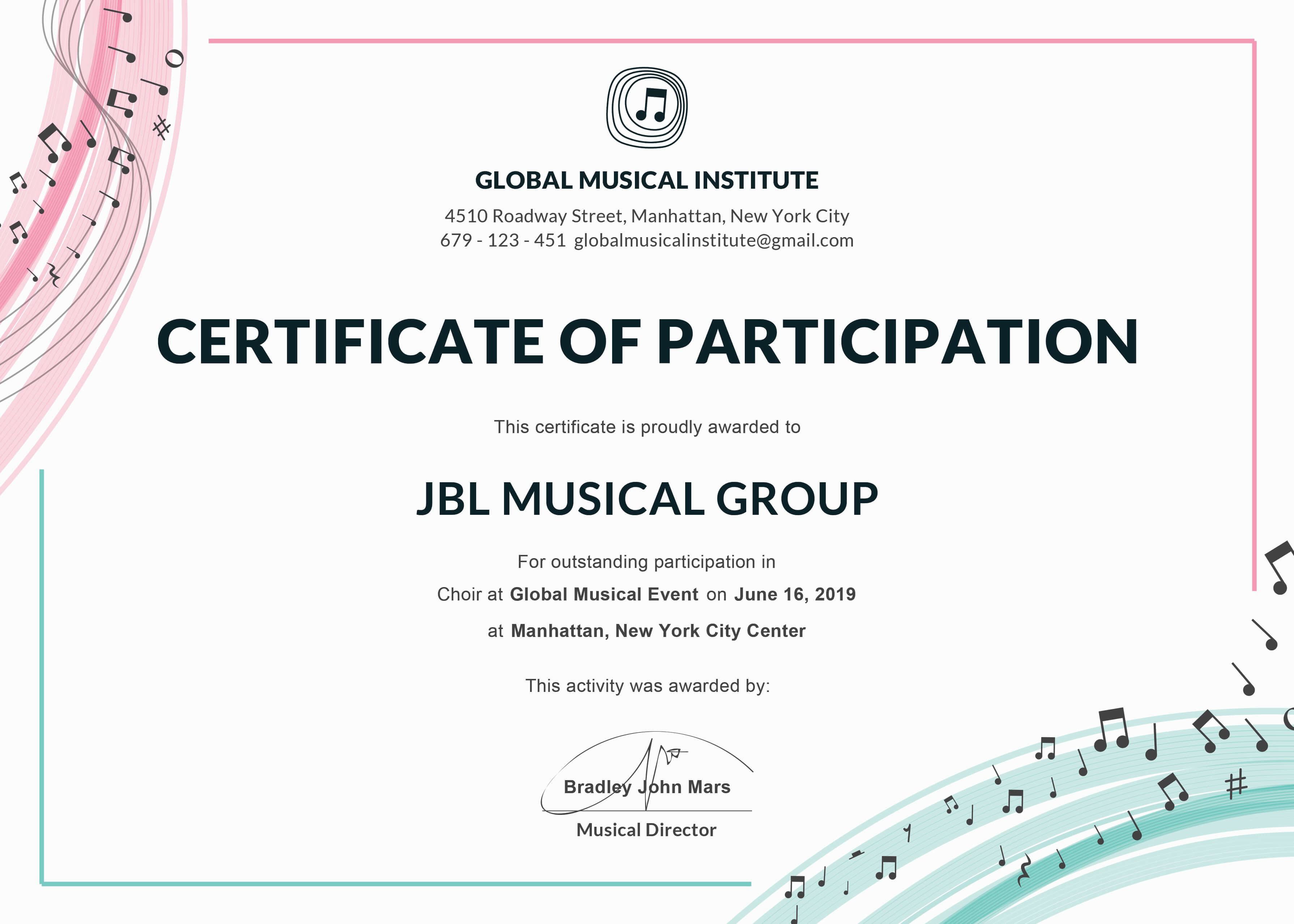 Certificate Of Participation Template Or Word Doc With Docx inside Templates For Certificates Of Participation