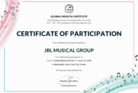 Certificate Of Participation Template Or Word Doc With Docx regarding Certificate Of Participation Word Template