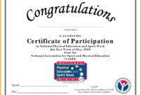 Certificate Of Participation Template Word with Certification Of Participation Free Template
