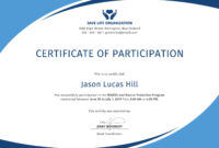Certificate Of Participation Template Word within Certificate Of Participation Word Template