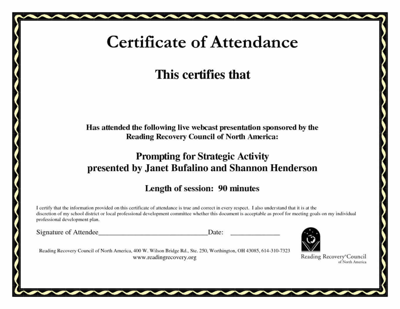 Certificate Of Perfect Attendance Template With Regard To Perfect Attendance Certificate Template