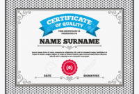 Certificate Of Quality. First Place Award Sign Icon. Prize For.. for First Place Award Certificate Template
