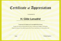 Certificate Of School Appreciation Template regarding Certificate Templates For School