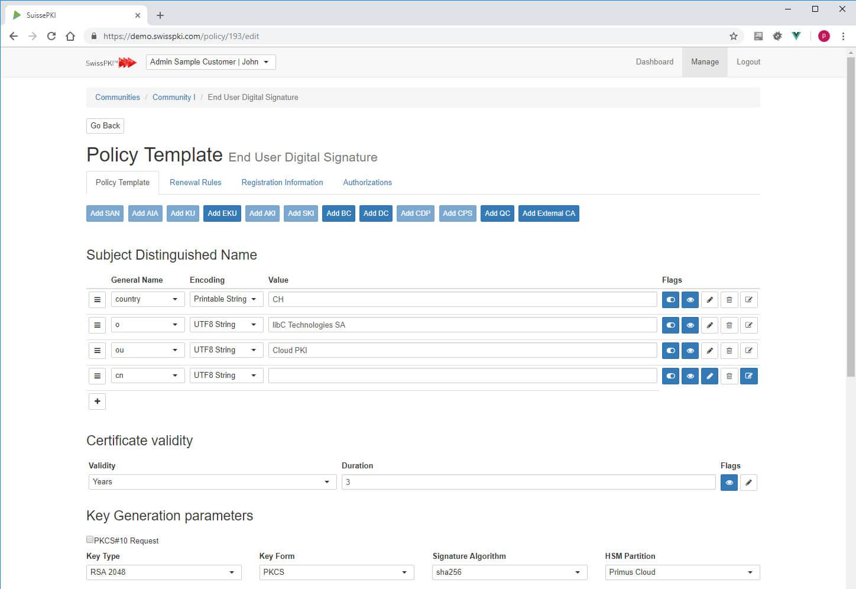 Certificate Policy Editor – Swisspki Regarding Certificate Authority Templates