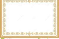 Certificate Stock Vector. Illustration Of Award, Blank with Award Certificate Border Template