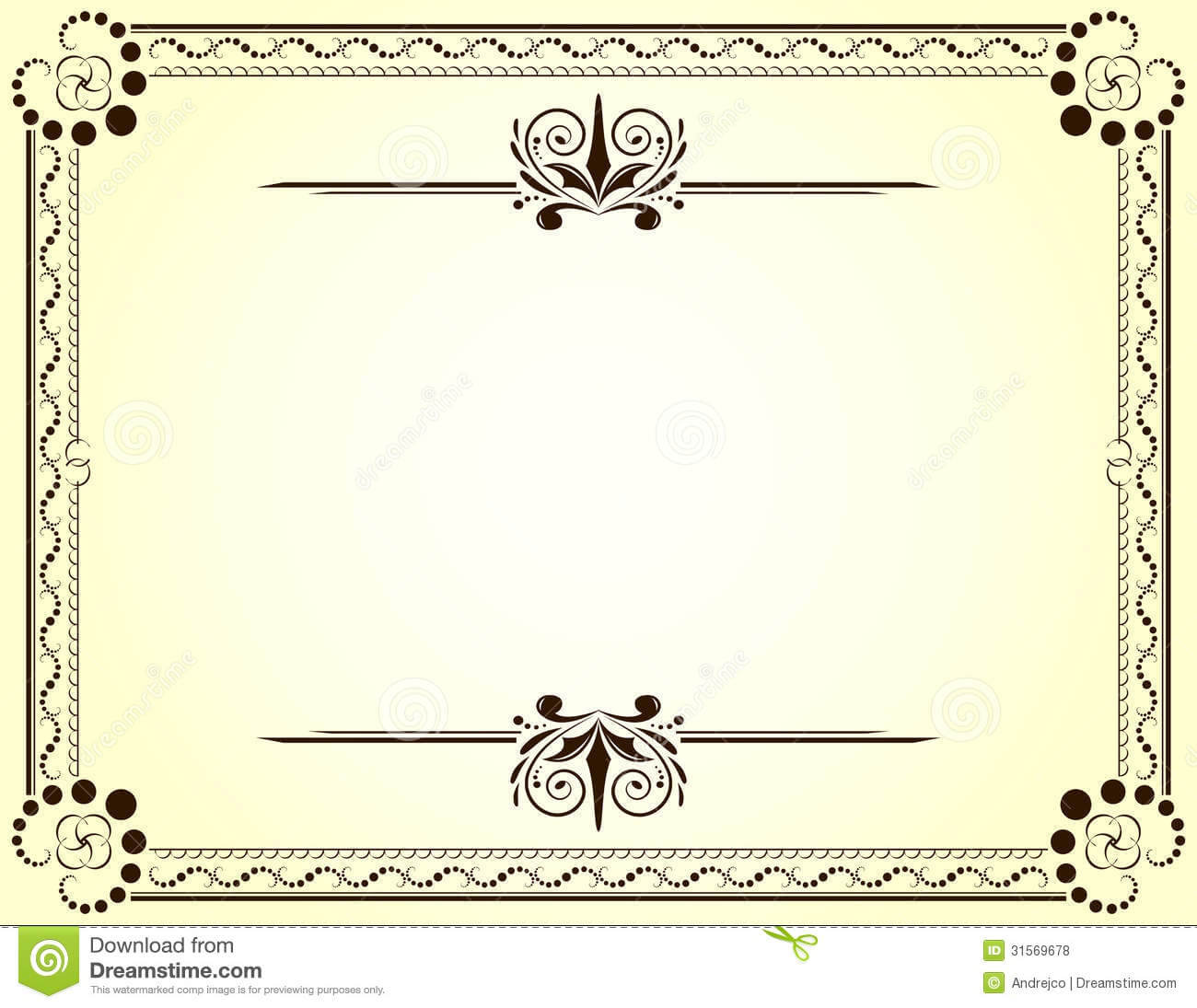 Certificate Stock Vector. Illustration Of Nobody, Frame pertaining to Blank Certificate Templates Free Download