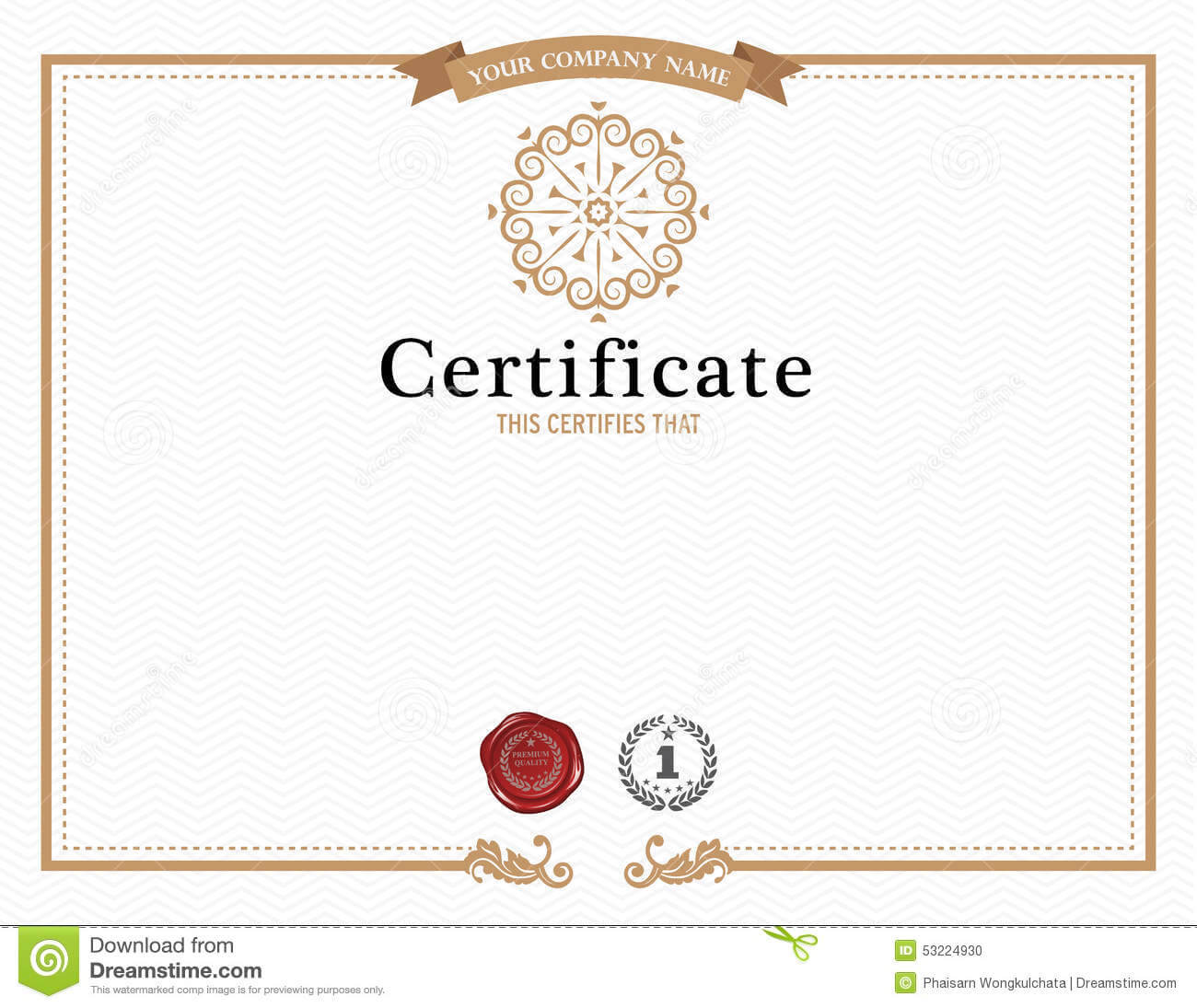 Certificate Template And Element. Stock Vector Pertaining To Beautiful Certificate Templates