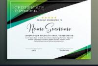 Certificate Template Design In Green Black pertaining to Design A Certificate Template