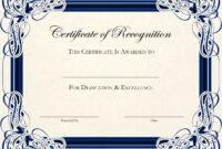 Certificate-Template-Designs-Recognition-Docs | Certificate within Free Printable Certificate Border Templates