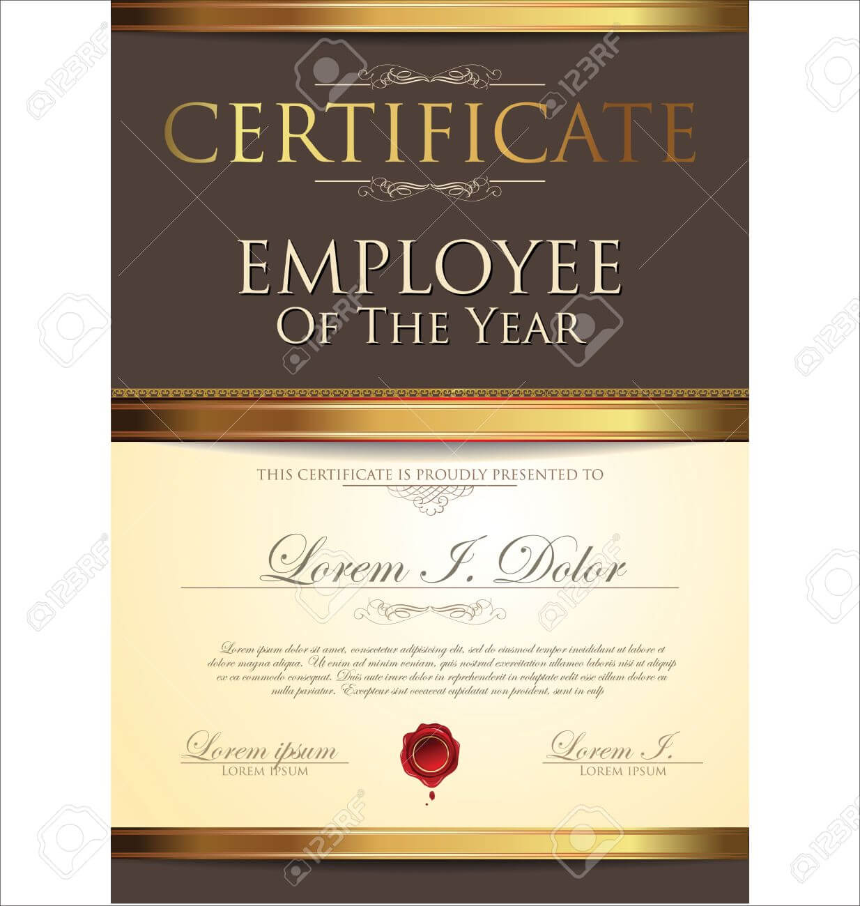 Certificate Template, Employee Of The Year Pertaining To Employee Of The Year Certificate Template Free