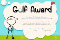Certificate Template For Golf Award Illustration Within Golf Certificate Template Free