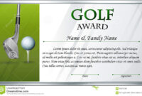 Certificate Template For Golf Award Stock Vector Intended For Golf Gift Certificate Template