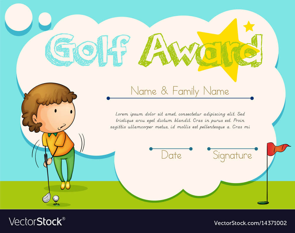 Certificate Template For Golf Award Within Golf Certificate Template Free