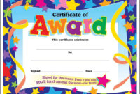 Certificate Template For Kids Free Templates Sample Blank Of for Star Certificate Templates Free