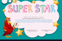 Certificate Template For Super Star within Star Certificate Templates Free