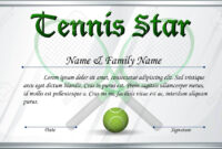 Certificate Template For Tennis Star Illustration Within Tennis Certificate Template Free