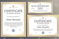 Certificate Template, Gift Voucher In Vintage Style For Your.. in Company Gift Certificate Template