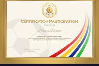 Certificate Template In Football Sport Color inside High Resolution Certificate Template