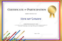Certificate Template In Sport Theme With Border Frame, Diploma.. with regard to Certificate Border Design Templates
