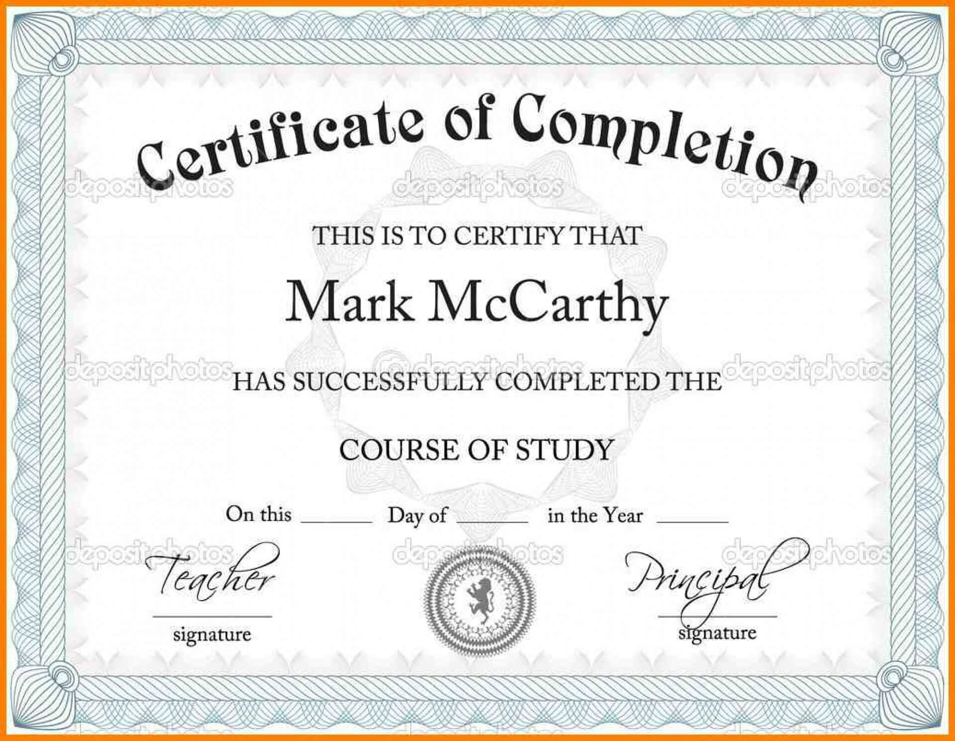 Certificate Template Powerpoint Templates Free Download with regard to Free Certificate Templates For Word 2007