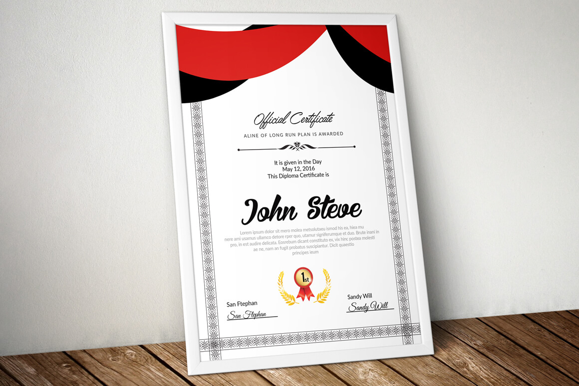 Certificate Template – Vsual Inside Indesign Certificate Template
