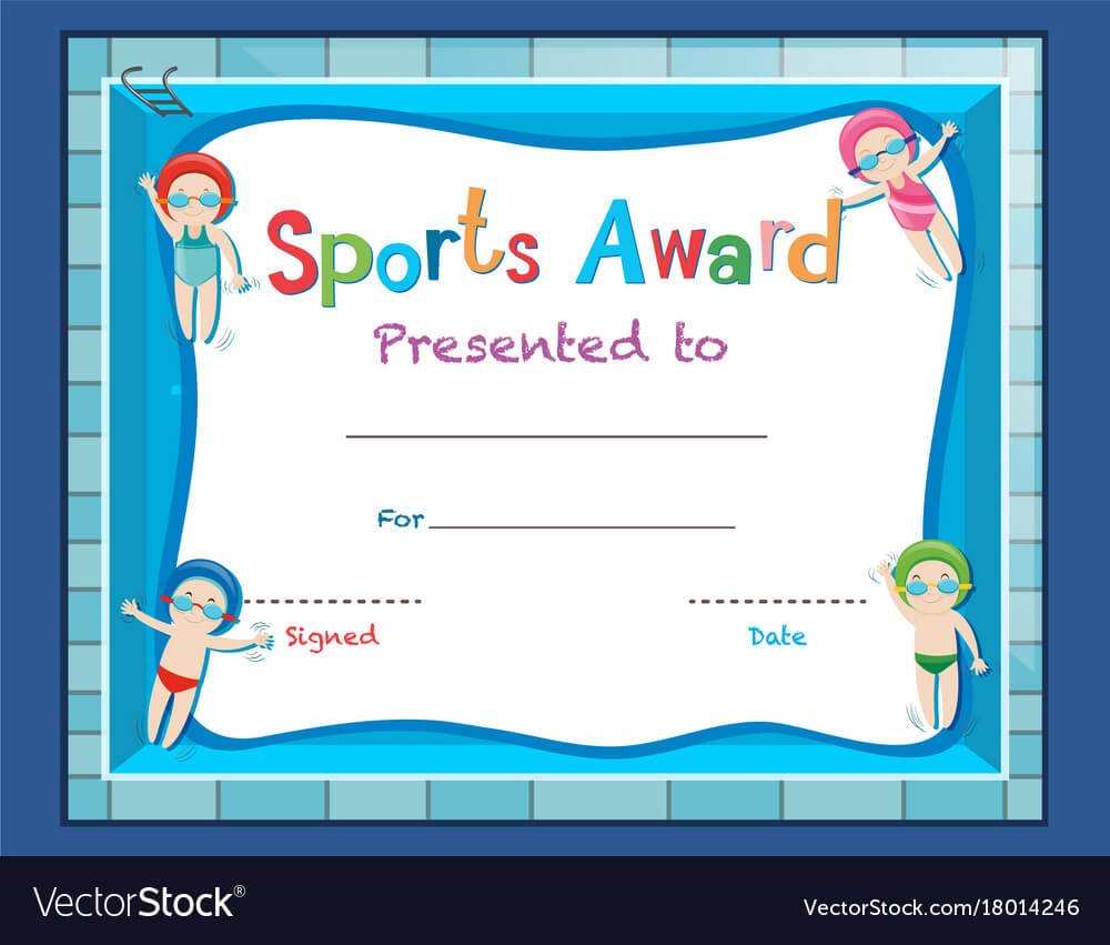 Certificate Template With Kids Swimming Intended For Swimming Certificate Templates Free