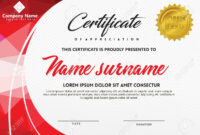 Certificate Template With Polygonal Style And Modern Pattern.. with Workshop Certificate Template