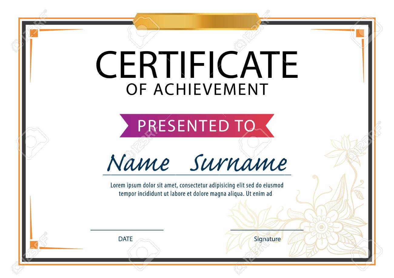 Certificate Template,diploma Layout,a4 Size ,vector For Certificate Template Size