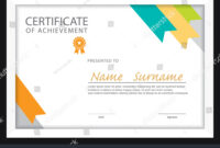 Certificate Templatediploma Layouta4 Size Vector Stock pertaining to Certificate Template Size