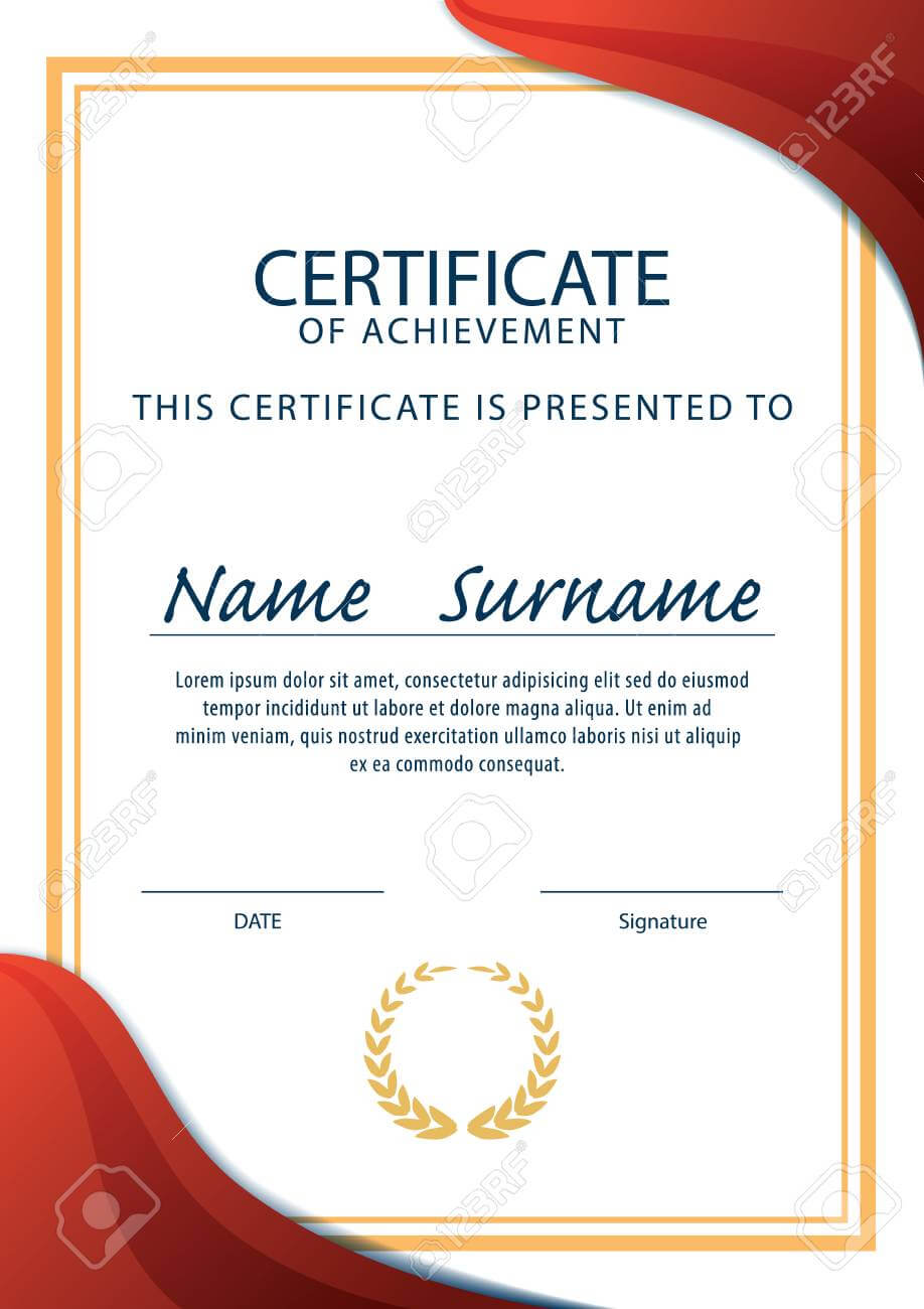 Certificate Template,diploma,a4 Size ,vector pertaining to Certificate Template Size