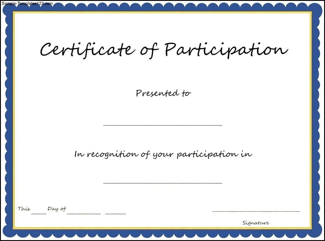 Certificate Templates: Award Certificate Template Cyberuse with Templates For Certificates Of Participation