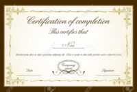 Certificate Templates: Certificate Of Completion Free pertaining to Certificate Of Completion Free Template Word