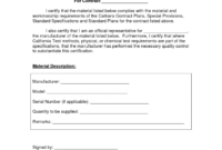 Certificate Templates: Certificate Of Compliance Template intended for Certificate Of Compliance Template