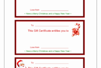 Certificate Templates: Christmas Certificate Templates For Mac within Free Christmas Gift Certificate Templates