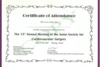 Certificate Templates: Continued Medical Edeucation pertaining to Certificate Of Attendance Conference Template