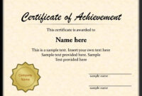 Certificate Templates For Powerpoint Award Template Ppt Free within Powerpoint Award Certificate Template