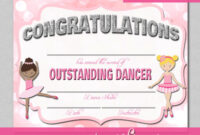 Certificate Templates: Free Dance Certificate Template throughout Dance Certificate Template