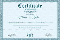 Certificate Templates: Free Editable Marriage Certificate with regard to Star Performer Certificate Templates