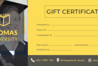 Certificate Templates: Free Graduation Gift Certificate intended for Graduation Gift Certificate Template Free